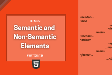 HTML5 A Simple Way to Understand Semantic and Non-Semantic Elements